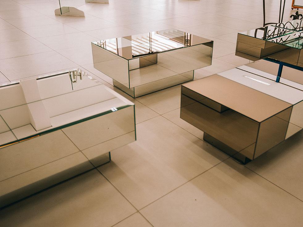 mesa de centro espelhadas